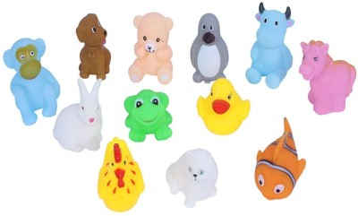 ODDEVEN Baby Swimming 12 Pcs-Sounding Bath Toy Bath Toy(Multicolor)