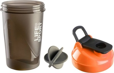 Tranduious Crossfit Gym Shaker for Protein/Water 400 ml Shaker, Sipper, Bottle, Water Bag, Can(Pack of 1, Orange)  available at flipkart for Rs.255