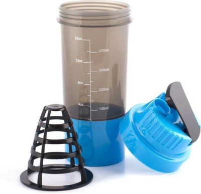 Tranduious Fitness Gym Shaker for Protein/Water 500 Shaker(Pack of 1, Multicolor)  available at flipkart for Rs.234