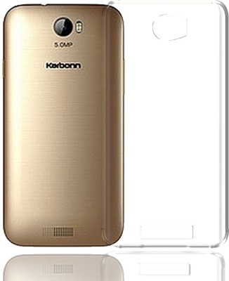 Case Creation Back Cover for Karbonn Aura Transparent Clear, Silicon