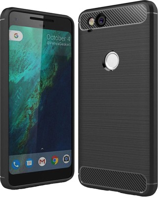 iZAP Back Cover for Google Pixel 2(Black, Dual Protection, Rubber)