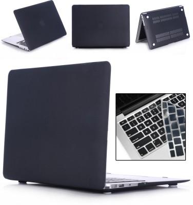"Robustrion Front & Back Case for MacBook Air 13"" (A1369 / A1466)(Black, Laptop Case)"
