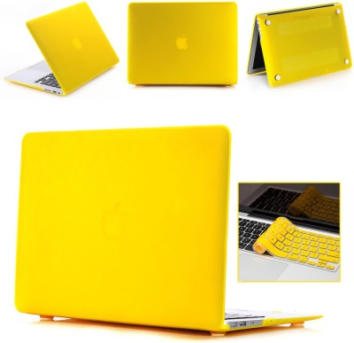 """Robustrion Front & Back Case for MacBook Air 13"""" (A1369 / A1466)(Yellow, Laptop Case)"""