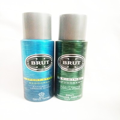 Brut SPORT STYLE AND ORIGINAL Deodorant Spray  -  For Men(400 ml, Pack of 2)  available at flipkart for Rs.549