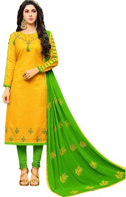 dd0df6340 View Divastri Cotton Embroidered Salwar Suit Dupatta Material(Un-stitched)  Price Online
