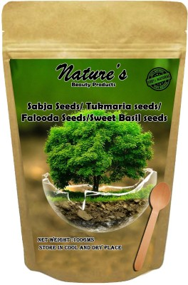 Nature's Sabja seeds /Faloods seeds for beautiful skin , hair &weight loss(100 g)  available at flipkart for Rs.145
