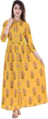 Stylum Casual Printed Women Kurti(Yellow)