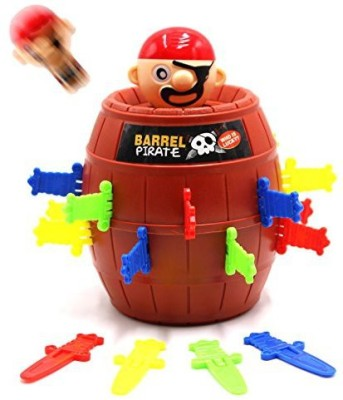 SPADORIVE Pirate Fun Barrel Group Game Tricky Toy Jump Up Game Stab With Breathtaking Curious And Interesting With Punishment Turntable(Multicolor)  available at flipkart for Rs.2297