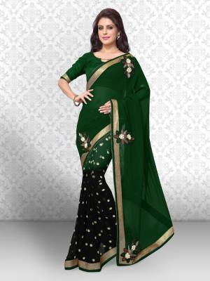 Divastri Embroidered Fashion Georgette Saree