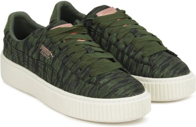 Puma Basket Platform VR Wn s Sneakers For Women(Green)