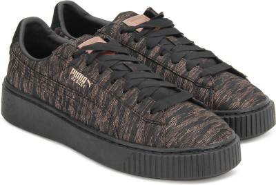 Puma Basket Platform VR Wn s Sneakers For Women(Black)