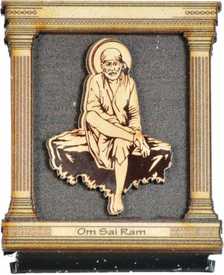 Sigaram Sai Baba Idol - For Car Dashboard, Office-Desk, Table Decor, Home and Shop - K1025 Showpiece  -  7 cm(Wooden, Acrylic, Multicolor)  available at flipkart for Rs.385