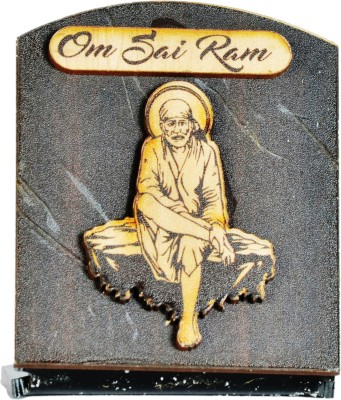 Sigaram Sai Baba Idol - For Car Dashboard, Office-Desk, Table Decor, Home and Shop - K1024 Showpiece  -  7 cm(Wooden, Acrylic, Multicolor)  available at flipkart for Rs.385