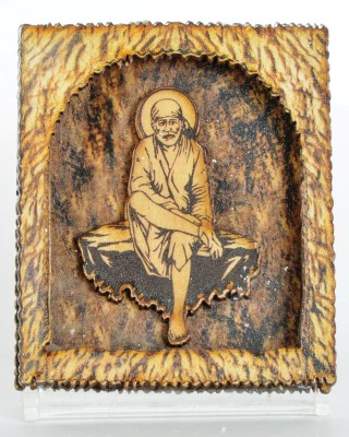 Sigaram Sai Baba Idol - For Car Dashboard, Office-Desk, Table Decor, Home and Shop - K1023 Showpiece  -  7 cm(Wooden, Acrylic, Multicolor)  available at flipkart for Rs.385