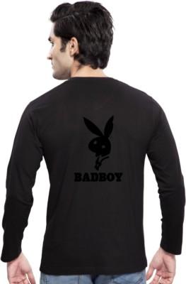 Clifton Printed Men's Round Neck Black T-Shirt