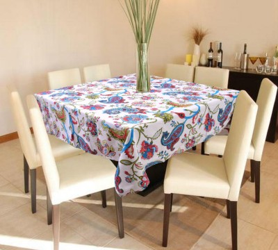 Miyanbazaz Textiles Self Design 4 Seater Table Cover(Cream, Cotton) at flipkart