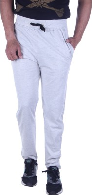 Oh Yes Solid Men's Grey Track Pants