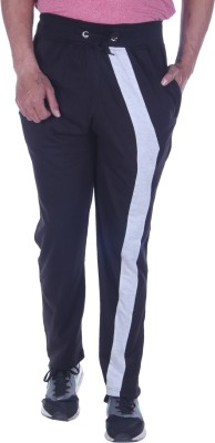 Oh Yes Solid Men's Black Track Pants