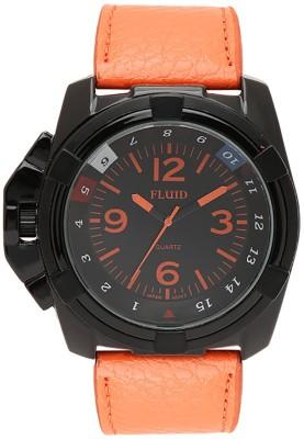 Fluid FL-152-BK-OR  Analog Watch For Men