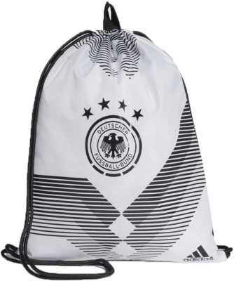 Adidas DFB GYM BAG 18 L Backpack(White)  available at flipkart for Rs.1189