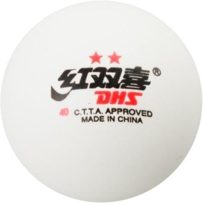 DHS TT 2 Star Table Tennis Ball(Pack of 6, White)