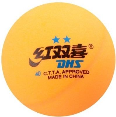 DHS TT 2 Star Table Tennis Ball(Pack of 6, Orange)