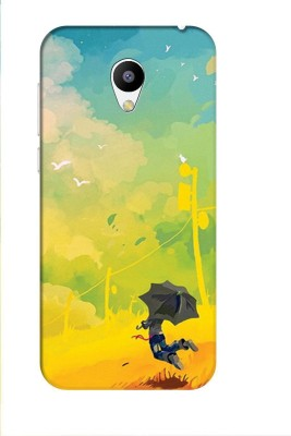 Aman Back Cover for Meizu M2(Multicolor, Plastic)