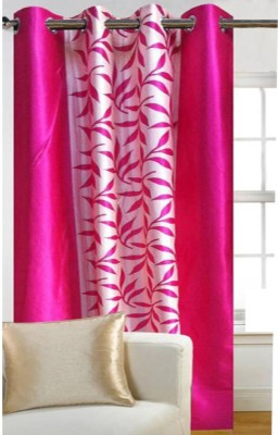 G S COLLECTIONS Polyester Door Curtain 212 cm (6 ft) Single Curtain(Floral Kolavery Pink Printed Floral Color)  available at flipkart for Rs.191