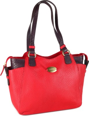 Hidesign SB OLIVIA 02-CEMENT PEBBLE SNAKE -RED AUBERGINE Red Hand-held Bag