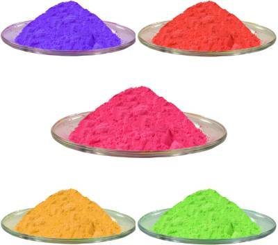 Aarav Creations Pure Mix Color Gulal for Safe Gift As Holi Color Powder Pack of 1250 g Holi Color Powder Pack of 1