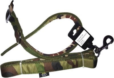 ROYAL PET Sollars' Collar For Dog (PET-1046) Padded Dog Lead & Collar Set | Dog Collar & Leash(Medium, Military Camouflage)