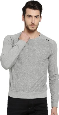Rare Rabbit Round Neck Solid Men Pullover