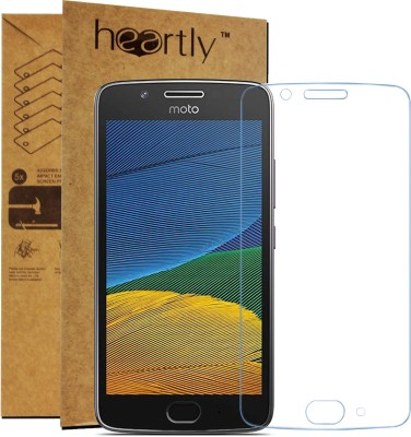 Heartly Tempered Glass Guard for Motorola Moto G5(Pack of 1)