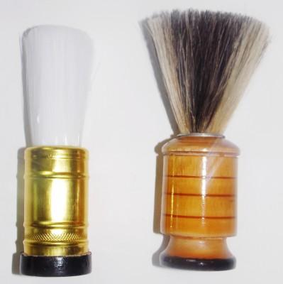 KONIT Set Of 2 es (Nylon and Natural) Shaving Brush(Pack of 2)