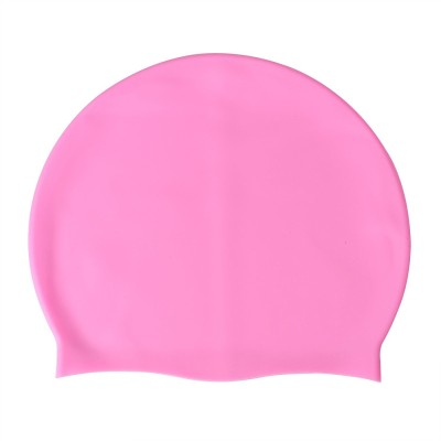 Xerobic Stylish Silicone Solid Waterproof Swim Cap for Men Women Youth & Children Basic Non- Slip Lightweight Durable for Tanning Professional and Recreational Swimmers Swimming Cap(Pink, Pack of 1)