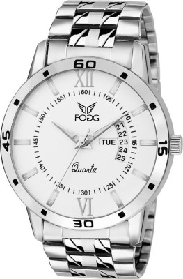 Fogg 2047-WH Day And Date Analog Watch For Men