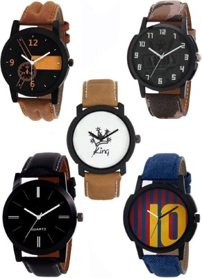 Morli New Generation Multicolored Set Of 5 Attractive Combo Watch  - For Men & Women