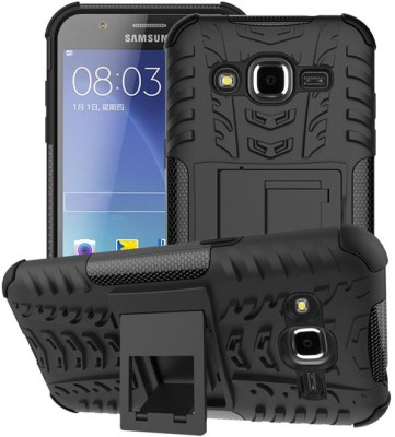 Power Back Cover for SAMSUNG Galaxy J2(Black, Shock Proof, Rubber, Plastic)