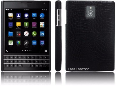 Case Creation Back Cover for Blackberry Passport(Dark Royal Black, Dual Protection, Leather)