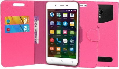 CHAMBU Flip Cover for Alco C2 CDMA GSM(Pink, Shock Proof, Artificial Leather)