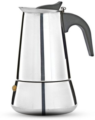 Pigeon Coffee perculator xpresso -4 4 Cups Coffee Maker(Silver)
