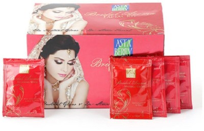 Astaberry BRIDAL AROMA FACIAL KIT THE INSTANT GLOW & DE STRESS FACIAL 30 g  available at flipkart for Rs.67