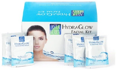 Astaberry HYDRA GLOW FACIAL KIT DEEP MOISTURIZER AND GLOW FACIAL KIT 30 g  available at flipkart for Rs.72