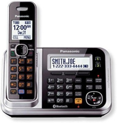 Panasonic kx-tg7841bx Cordless Landline Phone with Answering Machine(Silver)
