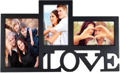 GrabBasket Generic Photo Frame(Black, 3 Photos) at flipkart