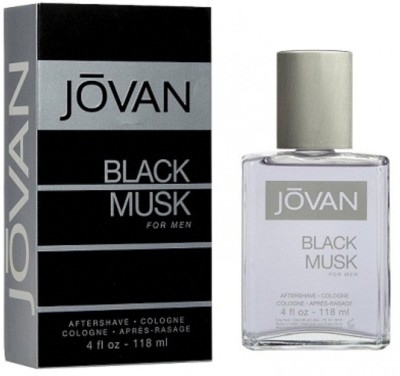 Jovan Black Musk Aftershave Eau De Cologne For Men 118 ml