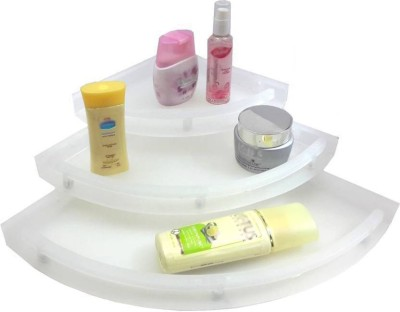 Aquafit Aquasoft prime series Acrylic corner shelves-set of 3 Acrylic Wall Shelf(Number...
