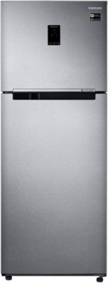 Samsung 415 L Frost Free Double Door 4 Star Convertible Refrigerator Real Stainless Look, RT42M553ESL TL  Samsung Refrigerators