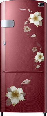 Samsung 212 L Direct Cool Single Door 3 Star Refrigerator(Star Flower Red, RR22N3Y2ZR2-HL/RR22M2Y2ZR2-NL) at flipkart
