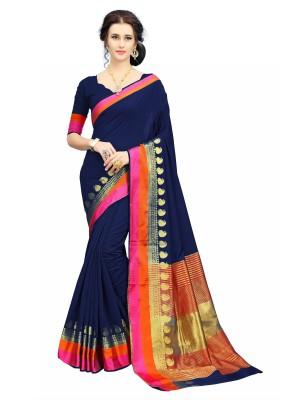 Rola Trendz Self Design Assam Silk Art Silk, Banarasi Silk, Pure Silk Saree(Multicolor)